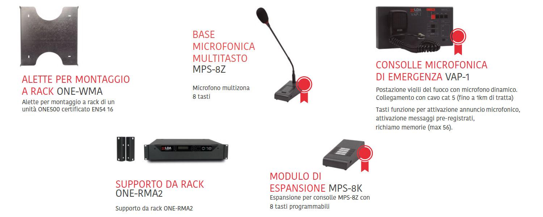 Sistema di evacuazione vocale e diffusore sonora - Phoebus ONE - accessori